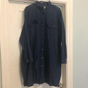 Dark Denim Button down dress